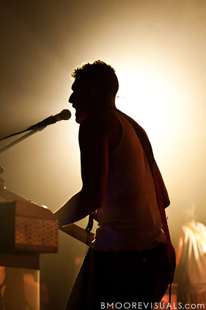 Ira Wolf Tuton of Yeasayer performs on October 4, 2010 at State Theatre in St. Petersburg, Florida.