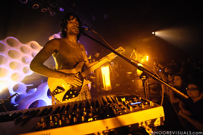 Anand Wilder of Yeasayer performs on October 4, 2010 at State Theatre in St. Petersburg, Florida.
