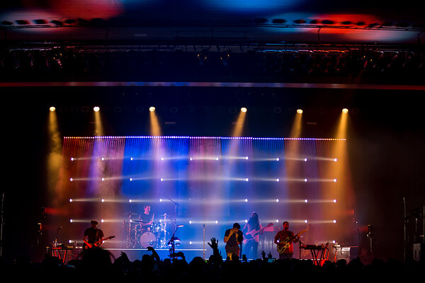 Young the Giant fall tour with very special guest, Lights at the Egyptian Room in the Old National Centre in Indianapolis, IN on October 26, 2018. Photo by Tony Vasquez.