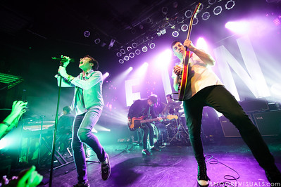 Andrew Dost, Nate Ruess, Nate Harold, Will Noon, and Jack Antonoff of fun. perform duing a sold-out show in support of Some Nights on March 7, 2012 at State Theatre in St. Petersburg, Florida