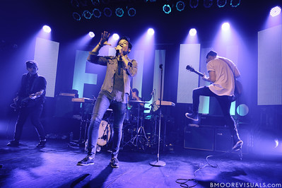 Nate Harold, Nate Ruess, Will Noon, and Jack Antonoff of fun. perform duing a sold-out show in support of Some Nights on March 7, 2012 at State Theatre in St. Petersburg, Florida