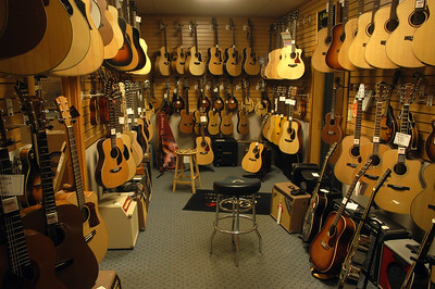 Woodsy's acoustic guitar room Kent Ohio