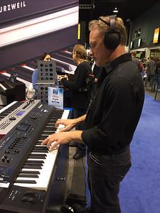 NAMM 2013 - Kurzweil booth
