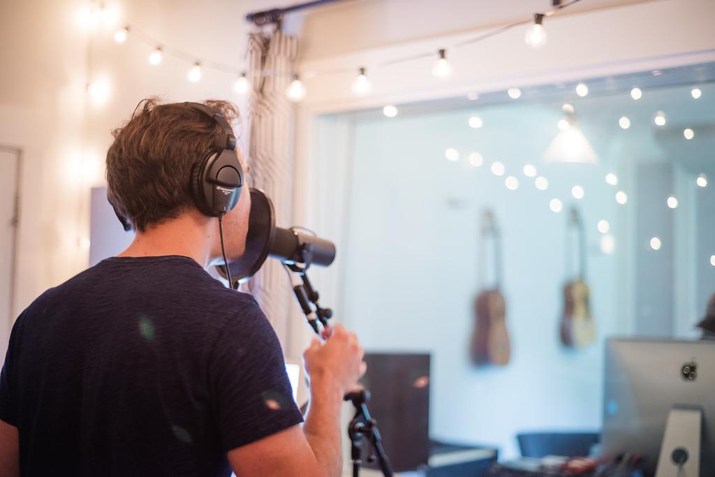 Jenny & Tyler in studio with Ben Shive