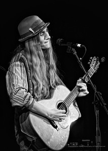 Sawyer Fredericks at the Towne Crier Cafe in Beacon, NY 06-08-2019.  Sawyer Fredericks (acoustic guitar), Chris Thomas (drums), Jerome Goosman (electric guitar), Gannon Ferrell (bass guitar).  Photo credit:  Ralph Baskin  www.ralphbaskin.com ralphbaskinphoto@gmail.com