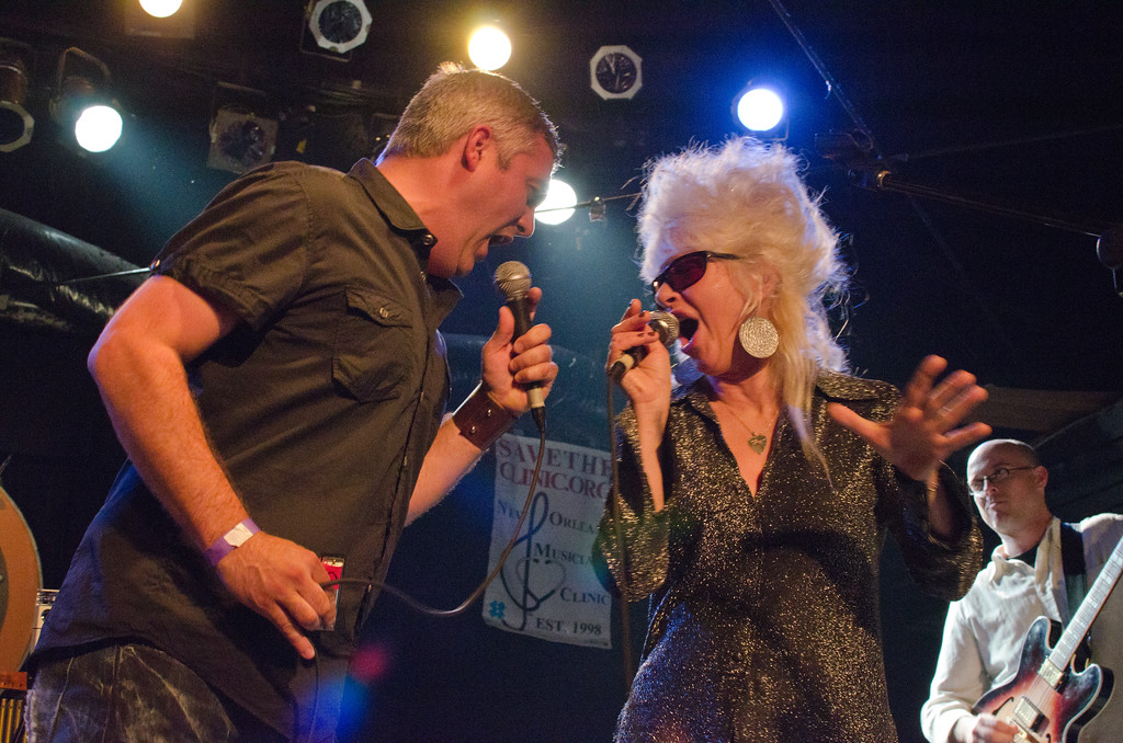 Taylor Hicks with Christine Ohlman