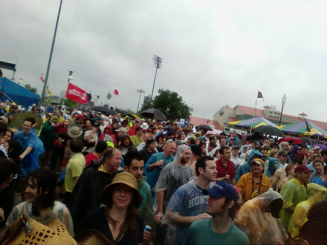Stormy good times at the first day of Jazz Fest!