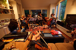 Sight-reading, July 4th party at Jim Zehnder's place (SLSQ Summer Chamber Music Seminar 2010)