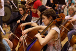 Cellists at chamber orchestra sight reading session (SLSQ Summer Chamber Music Seminar 2010)