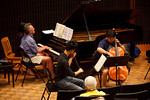 Ray Walton, William Joo and Warren Wu at masterclass (SLSQ Summer Chamber Music Seminar 2010)