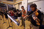 Geoff Nuttall, Jessica Seeliger, Christine Choi and others at chamber music reading session (SLSQ Summer Chamber Music Seminar 2010)