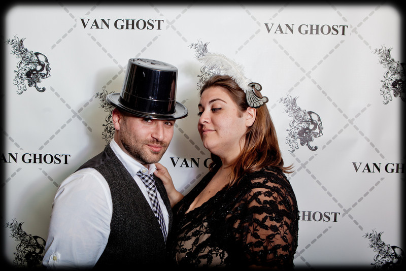 Van Ghost Black and White Wednesday Photo Booth