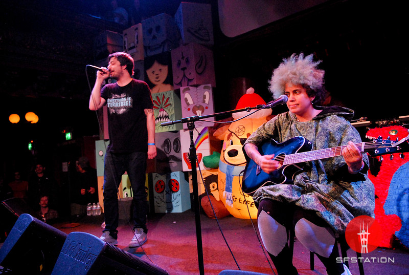 """Photo by Allie Foraker<br /><br /><b>See event details:</b> <a href=""""http://www.sfstation.com/noise-pop-a-night-with-aesop-rock-and-kimya-dawson-feat-rob-sonic-and-dj-big-wiz-e1114031"""">Noise Pop: A Night With Aesop Rock & Kimya Dawson (Feat. Rob Sonic & DJ Big Wiz)</a>"""