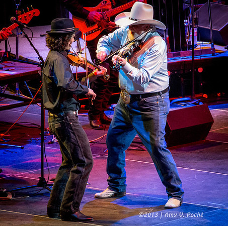 Charlie Daniels fiddling around