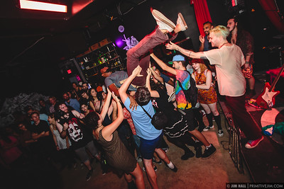 Impromptu crowd surfing during Landica at the Audio Junkie 3rd Annual Independence Day Bash, at Gramps, Wynwood Miami July 2014