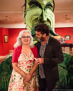 Wayne White and wife Mimi Pond. Opening night at the Hollywood Art & Culture Center for artists Wayne White and Douglas Hoekzema as well as Project LSD, Hollywood FL, June 12th, 2015