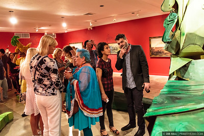 Opening night at the Hollywood Art & Culture Center for artists Wayne White and Douglas Hoekzema as well as Project LSD, Hollywood FL, June 12th, 2015