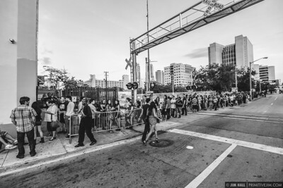 Fans lined up around the block for Phantogram and Bad Things sold out show at Grand Central. Miami, June 28 2014