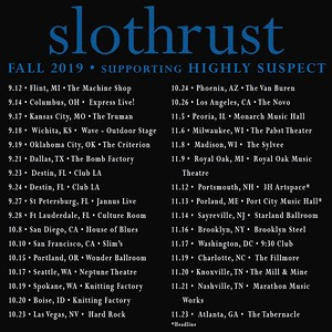 Slothrust Fall 2019 tour schedule