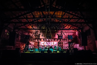 Preshow stage at The Goat Farm Art Center in Atlanta, Georgia on Saturday, Oct. 4, 2014