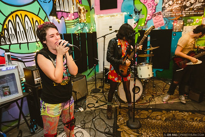 Period Bomb performing at Fuzz Baby Records, March 1st, 2017