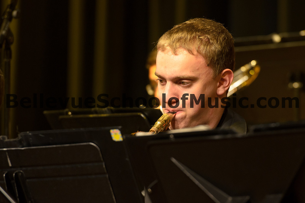 Ben Zobel performing with Newport High School Jazz 1, winners of the 4A division.