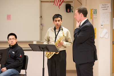 Bellevue School of Music student Adithya Mukund performing Concerto by A. Glazounov