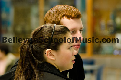 Andrew and Carew scanning the scores Eastshore Solo and Ensemble 2012
