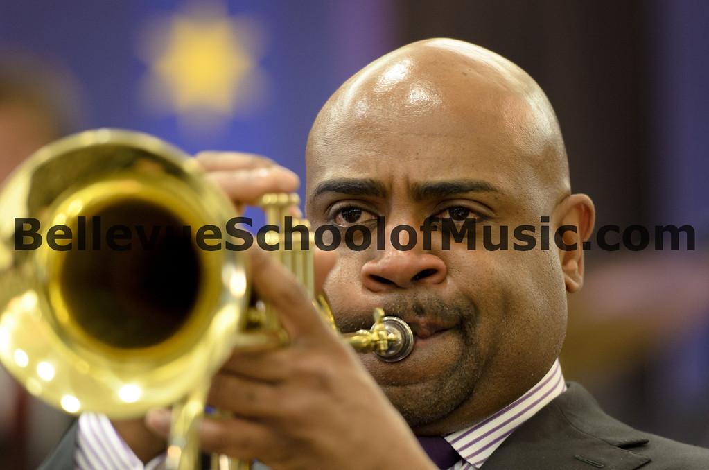 Terell Stafford performing on Flugelhorn with Newport High School Jazz 1