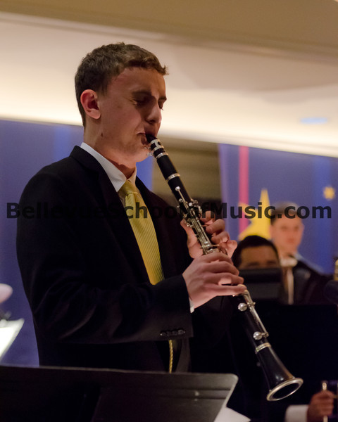 Ben Zobel performing on Clarinet with Jazz 1 at the Newport High School Jazz Gala 2012