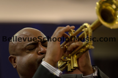 Terell Stafford performing on Trumpet with Newport High School Jazz 1