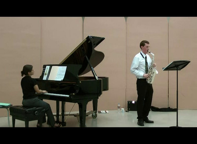 Bellevue School of Music student Andrew Nelson performing in the final round.