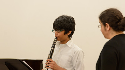 Bellevue School of Music student Chandra Pandian performing Concerto by C. Stamitz