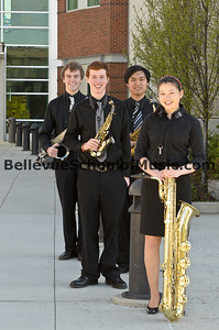 1st Place Interlake High School Saxophone Quartet WMEA State Finals 2012