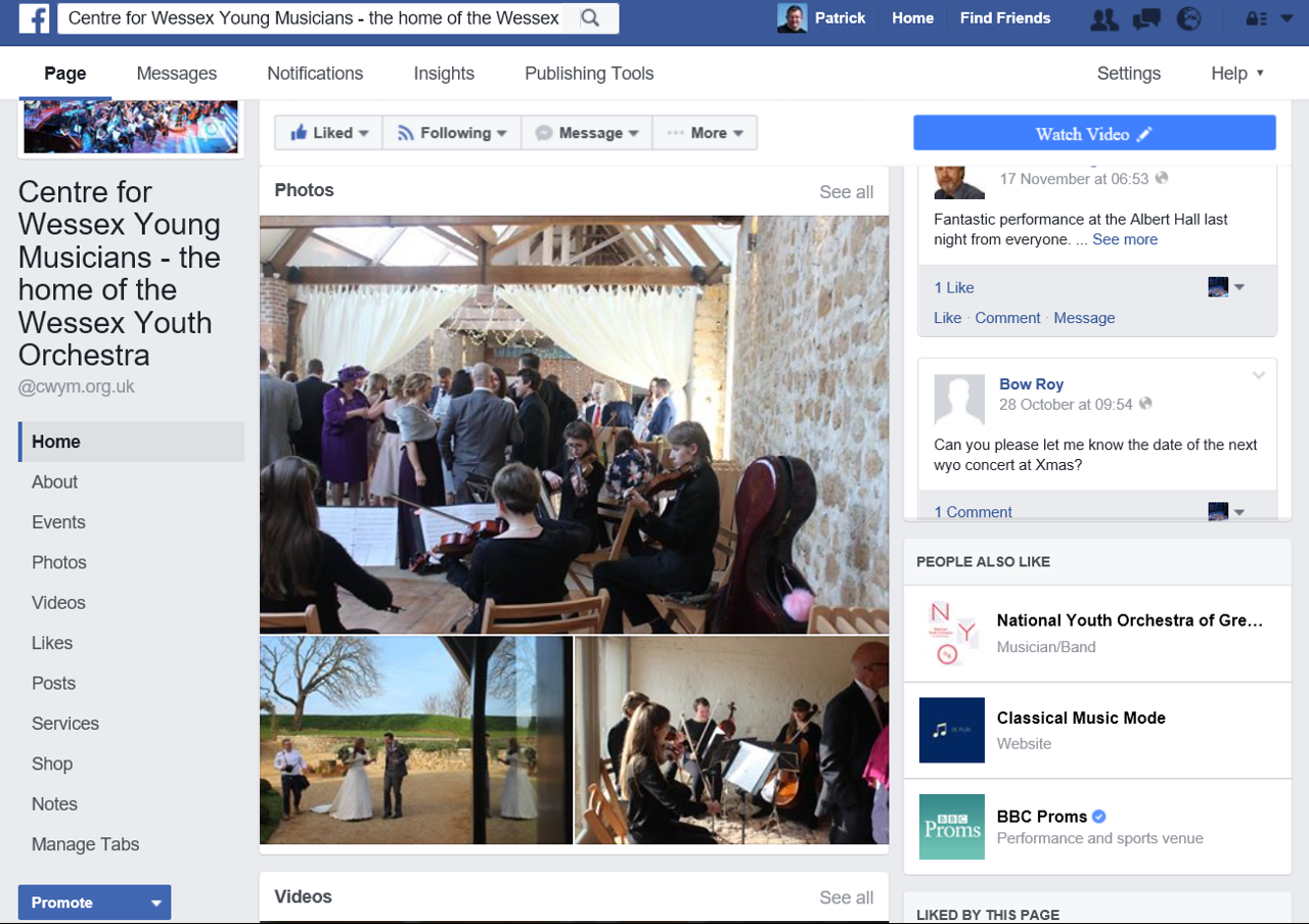 CWYM Facebook Page 2016 Memory 2