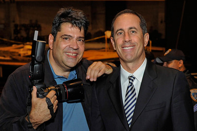 Jerry Seinfeld (photo courtesy of Marc Levine).  I am currently not allowed to post images of the actual show as per Seinfeld's PR people.