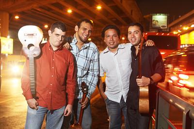 Agrupación C4 Trío, sesión para promoción de su segundo disco.  Caracas, Venezuela