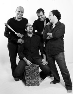 """Cuarteto Rítmico de Caracas. Alberto Vergara, Diego """"El Negro"""" Alvarez, Ezequiel Serrano y Rodner Padilla."""