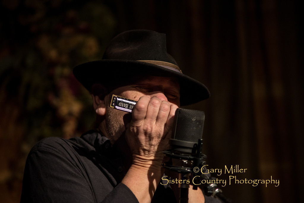 David Jacobs-Strain & Bob Beach in performance at the Harmony House in Sisters, OR. This standing room only performance was recorded as part of their 'live' CD  project - © 2015 Gary N. Miller, Sisters Country Photography