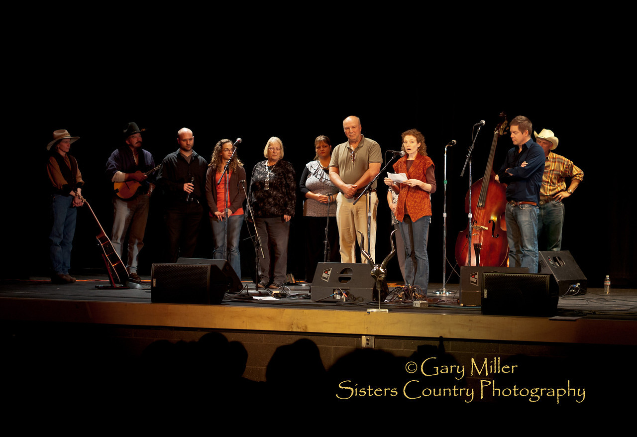 2011 Benefit Concert for Gary Bowne - Auditorium of the Sisters High School - Photo by Gary N. Miller - Sisters Country Photography