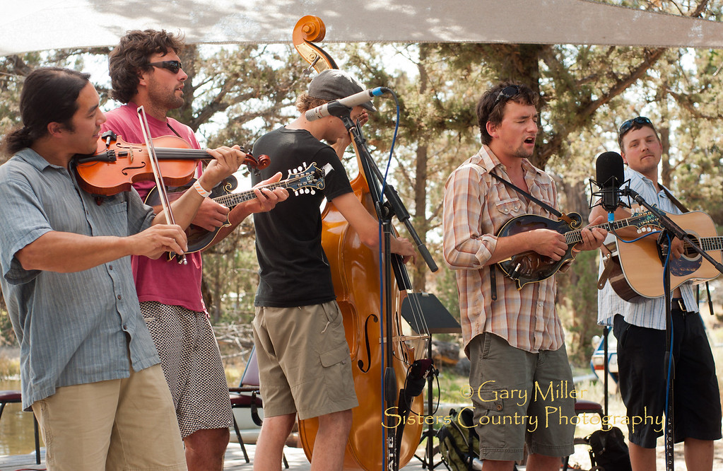 Pitchfork Revolution on stage at the High & Dry Bluegrass Festival 2011 - Runway Ranch, Bend, Oregon - Photo by Gary N. Miller - Sisters Country Photography