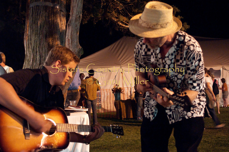 Americana Program graduate Austin Erlandson trades licks on Salt Creek with 'the master' Joe Craven at the Breedlove Booth. Austin has been accepted to the Berlklee School of Music which was his post festival destination.