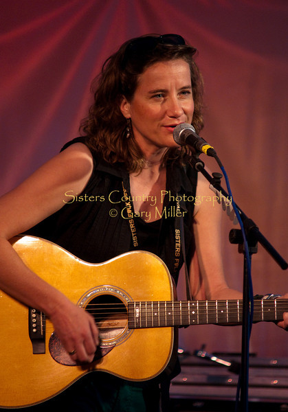 The inimitable Susan Werner at the main stage venue Satruday night, September 12, 2009 at the 2009 Sisters Folk Festival. Photo Credit: Gary Miller
