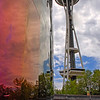 Seattle Center. In front of the Experience Music Project and Space Needle WA-seattle-10jun2010_186