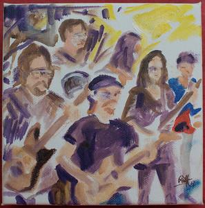 Mark Newman Band By Geoff Rawling  Current bid: $100