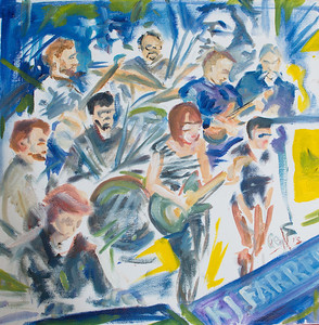 Christine Sweeney Band & WellDiggers By Geoff Rawling  Current bid: $100