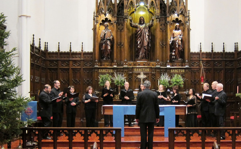 """Alexander Blachly conducted Pomerium at the Midtown Concert series, December 21, 2011, at Immanual Lutheran Church in Manhattan, in their program """"Creator of the Stars: Christmas Music from the Old World."""""""