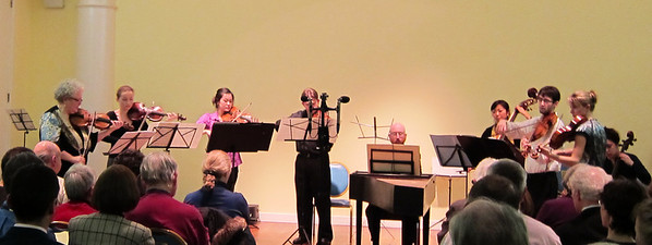 Monica Huggett and the Juilliard415 ensemble performed music of Van Wassenaer, Stradella, Muffat, and Boccherini on Feb 24, 2012, at the Abigail Adams Smith Auditorium, under the auspices of the Salon/Sanctuary Concerts series.