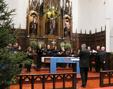 "Alexander Blachly conducted Pomerium at the Midtown Concert series, December 21, 2011, at Immanual Lutheran Church in Manhattan, in their program ""Creator of the Stars: Christmas Music from the Old World."""