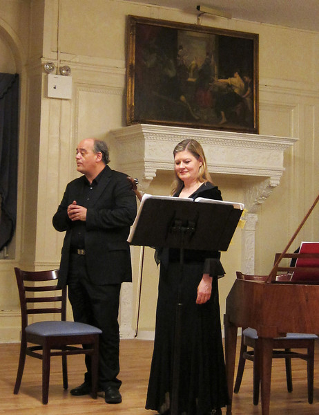 "On March 23, 2012, Rufus Muller, tenor, joined Cynthia Roberts, violin; Allen Whear, cello; and Christoph Hammer, fortepiano, in a splendid evening of vocal and instrumental music by Haydn, Beethoven, Norbert Burgmuller (1810-1836), and Franz Xaver Kleinheinz (1765-1832) in a program titled ""The Classical Romantic.""  Part of the Salon-Sanctuary series, the performance was held in the sumptuous setting of the Liederkranz Concert Hall on Manhattan's upper east side. As a delightful encore, Rufus Muller sang Sally in Our Alley, with words by the poet Henry Carey (1693-1743)."